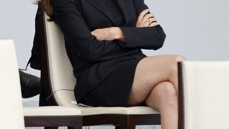 La ministre de la Culture, Aurélie Filippetti, le 14 juillet 2012 à Paris. (CHARLES PLATIAU / REUTERS)
