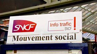 """Le syndicat Sud-Rail promet """"le blocage"""" si le gouvernement s'inspire du rapport Spinetta sur l'avenir de la SNCF. (MAXPPP)"""