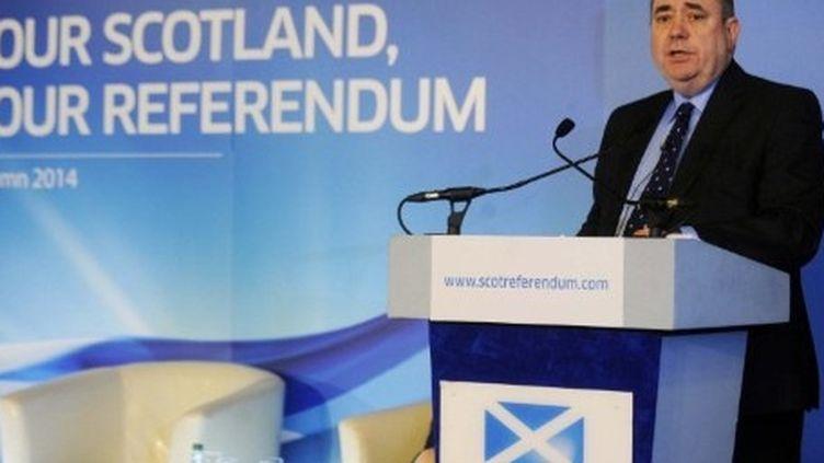 Le premier ministre écossais, Alex Salmond, annonce le lancement d'une consultation en vue d'un référendum sur l'indépendance de la province. (AFP - ANDY BUCHANAN )
