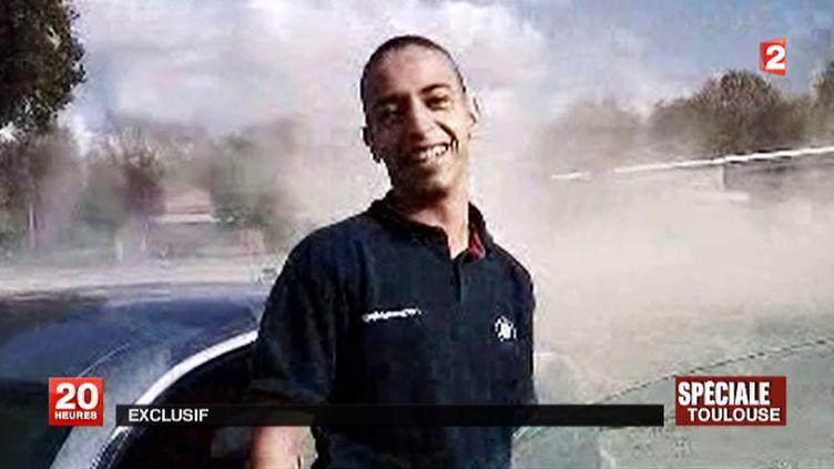Mohamed Merah, l'auteur de la tuerie de Toulouse en mars 2012, sur un document amateur. (DOCUMENT FRANCE 2)