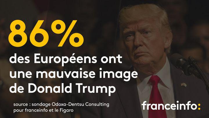 Les Espagnols sont ceux qui rejettent le plus le locataire de la Maison Blanche. (FRANCEINFO)