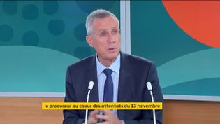 L'ancien procureur de la République de Paris et procureur général près la Cour de cassation, François Molins, sur la chaîne franceinfo, le 7 septembre 2021. (FRANCEINFO)