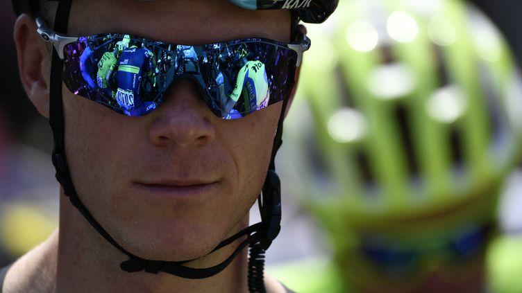 Le Britannique Chris Froome  (JEFF PACHOUD / AFP)