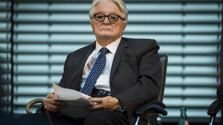 L'ancien ministre des Affaires étrangères Roland Dumas à Berlin (Allemagne), le 7 novembre 2014. (ODD ANDERSEN / AFP)