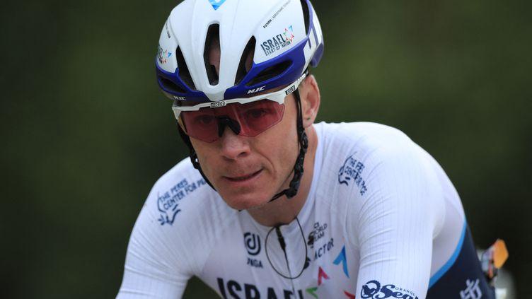 Christopher Froome (Grande-Bretagne) lors de la première étape du tour de France 2021 entre Brest et Landerneau. (CHRISTOPHE PETIT TESSON / POOL)
