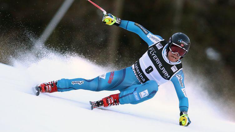 Le Norvégien Aleksander Aamodt Kilde (ANDREA SOLERO / AFP)