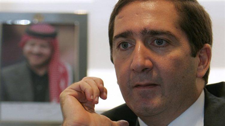 Le Premier ministre jordanien, Samir Rifaï, en juin 2009 dans son bureau à Amman. (AFP/STR)