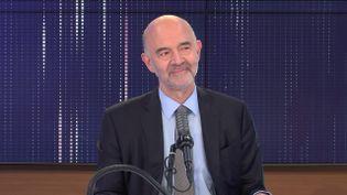 """Pierre Moscovici,premier président de la Cour des comptes était l'invité du """"8h30 franceinfo"""", mercredi 16 juin 2021. (FRANCEINFO / RADIOFRANCE)"""