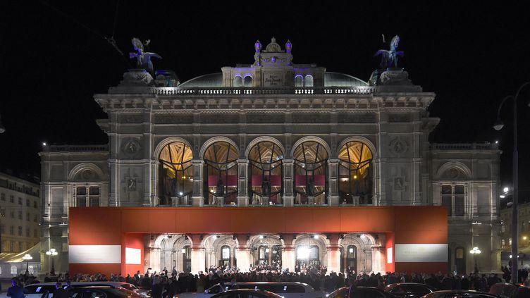 """Le """"Staatsoper"""" de Vienne, l'opéra d'Etat autrichien.  (DIETER NAGL / AFP)"""