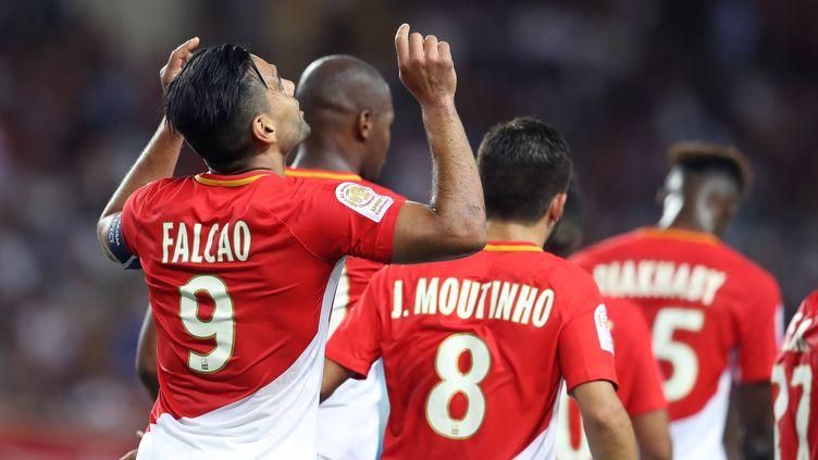 Radamel Falcao et ses coéquipiers de l'AS Monaco.