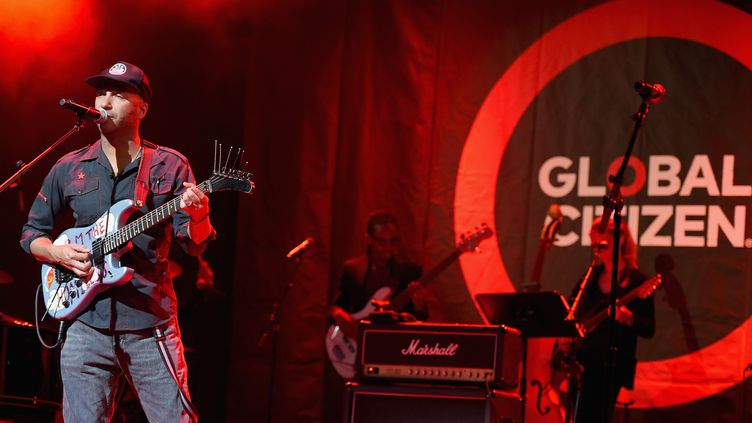 Central Park, New York, le 22 septembre au soir : Tom Morello au Global Citizen Festival 2016  (Theo Wargo / GETTY IMAGES NORTH AMERICA / AFP)