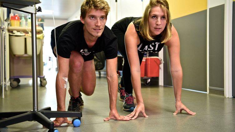 Léa Dall'aglio et Vincent Guerrier souhaitent promouvoir l'activité physique comme arme contre le cancer.
