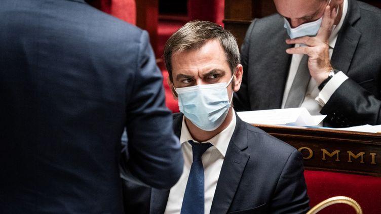 Olivier Véran, le ministre de la Santé, à l'Assemblée nationale, à Paris, le 3 novembre 2020. (BOUZAS / HANS LUCAS / AFP)