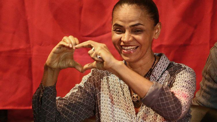 La candidate à la présidentielle brésilienne Marina Silva, le 30 août 2014 à Rio de Janeiro. (WILTON JUNIOR / AFP)