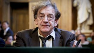 """L'académicien Alain Finkielkraut, ici le 12 octobre 2017, a été l'objet d'insultes en marge d'une manifestation des """"gilets jaunes"""" à Paris, le 18 février 2019. (THOMAS PADILLA / MAXPPP)"""