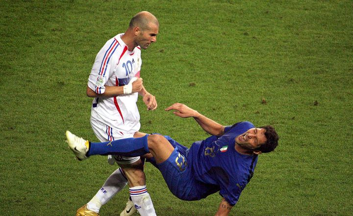 Zinédine Zidane et son fameux coup de tête sur Marco Materazzi