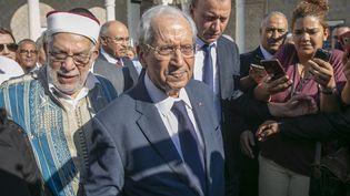 Mohamed Ennaceur, président tunisien par intérim après la mort de Beji Caïd Essebsi, à Tunis (Tunisie) le 25 juillet 2019. (YASSINE GAIDI / ANADOLU AGENCY)