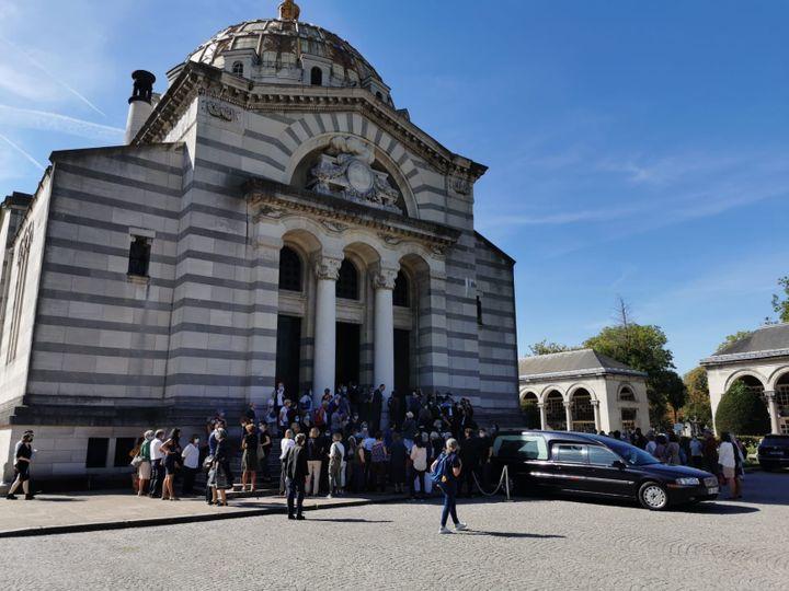 Les obsèques de Gisèle Halimi ont été célébrées le 6 août, au crematorium du Père Lachaise à Paris. (LEO TESCHER / RADIOFRANCE)