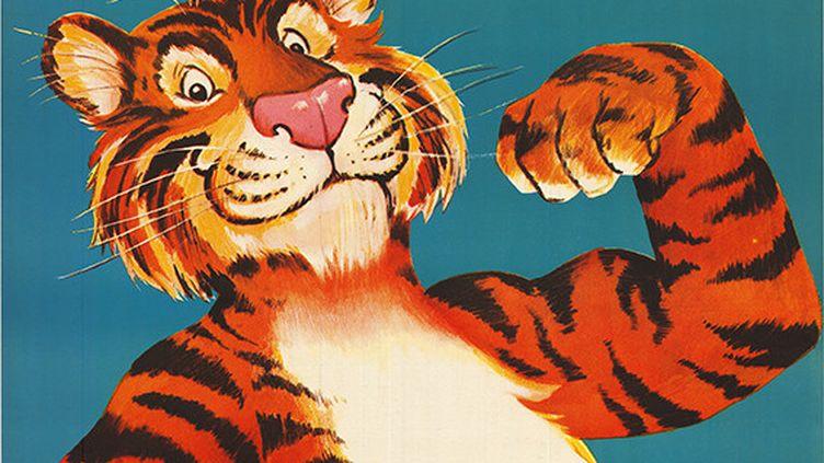 Le tigre d'un célèbre pétrolier (Esso, Atelier W. Greminger, 1965 (128x90). Collection Marc H. Choko)