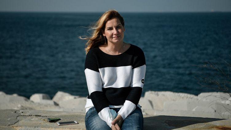 La double médaillée olympique de voile, Sofia Bekatorou est devenue l'initiatrice du mouvement #MeToo en Grèce.  (LOUISA GOULIAMAKI / AFP)