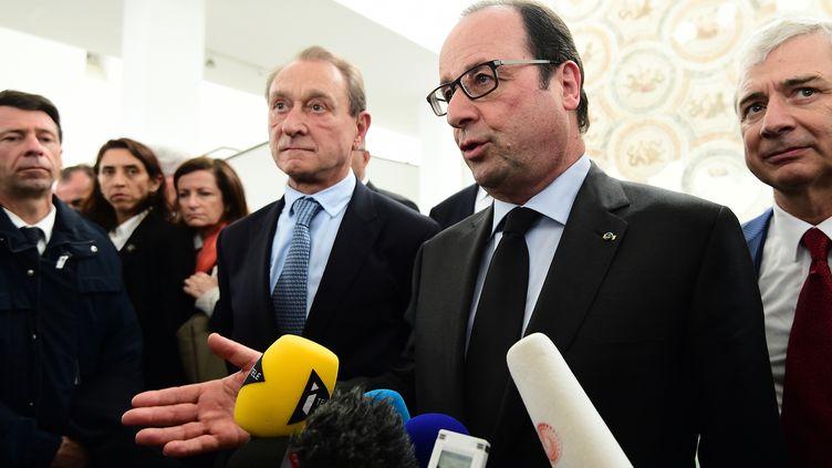 François Hollande, le 29 mars 2015 à Tunis (Tunisie). (EMMANUEL DUNAND / AFP)