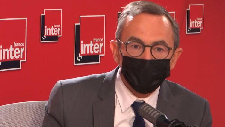 Bruno Retailleau, sur France Inter, le 28 juin. (FRANCE INTER / RADIO FRANCE)