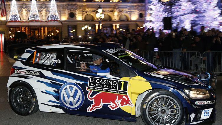 Le Français Sébastien Ogier (VW Polo-R) (VALERY HACHE / AFP)