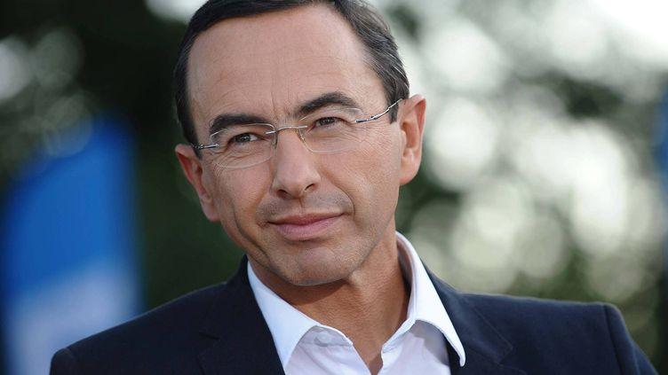 Bruno Retailleau, tête de liste LR-UDI aux régionales en Pays de la Loire, aux Essarts (Vendée), le16 avril 2015. (MAXPPP)