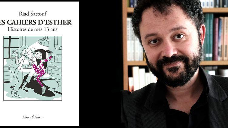 Riad Sattouf sort le 4e tome des Cahiers d'Esther. (RIAD SATTOUF / ALLARY EDITIONS / PHOTOPQR/LE PARISIEN/MAXPPP)