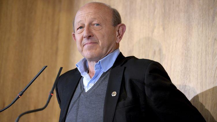Jean-Luc Bennahmias, lors d'un débat à la CPME (Confédération des petites et moyennes entreprises), à Paris, le 11 janvier 2017. (ERIC PIERMONT / AFP)