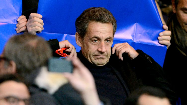 L'ancien président Nicolas Sarkozy, photographié ici le 2 avril 2013 à Paris, est mis en examen pour abus de faiblesse à l'encontre de la milliardaire, héritière de L'Oréal. (FRANCK FIFE / AFP)