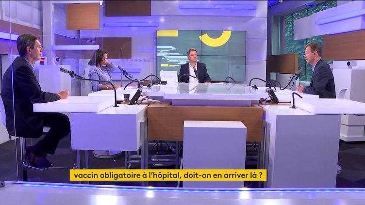 Le plateau des informés du matin du mercredi 15 septembre. (FRANCEINFO / RADIOFRANCE)