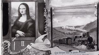 Carte postale illusrant le vol de la Joconde entre 1911 et 1913 (PHOTO JOSSE)