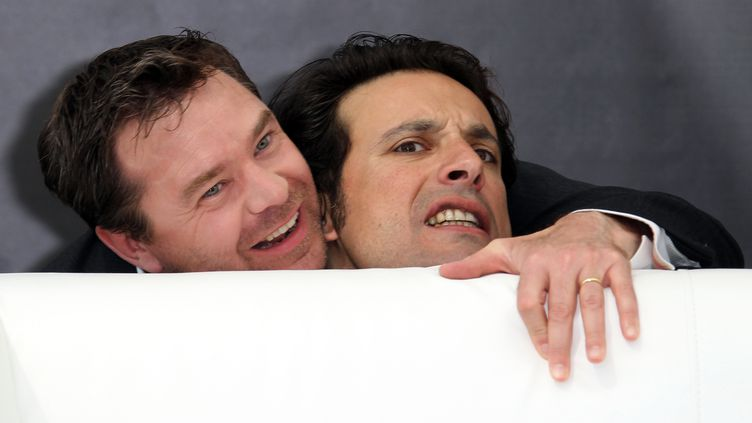 """Guillaume De Tonquedec (à gauche) et Bruno Salomone, acteurs de la série télévisée """"Fais pas ci fais pas ça"""". (AFP)"""