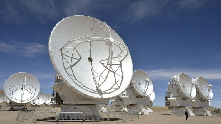 Le téléscope Alma, le plus puissant au monde, est basédans le désert d'Atacama au Chili. (MAXPPP)
