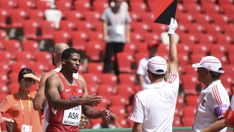 Ronnie Ash a contesté son faux-départ en séries du 110m haies (GREG BAKER / AFP)