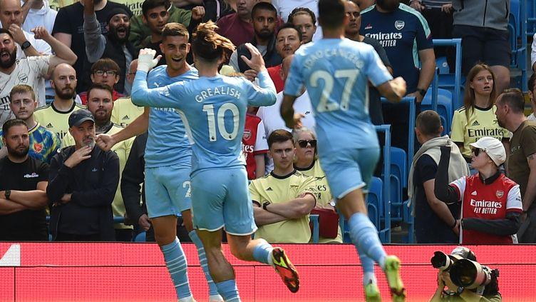 Manchester City mène largement face à Arsenal. (OLI SCARFF / AFP)