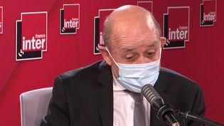 Jean-Yves Le Drian, le 18 février 2021, sur France Inter. (FRANCE INTER / RADIO FRANCE)