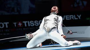 La vice championne du monde Ysaora Thibus aux championnats du monde de Wuxi en 2018 (Augusto Bizzi)