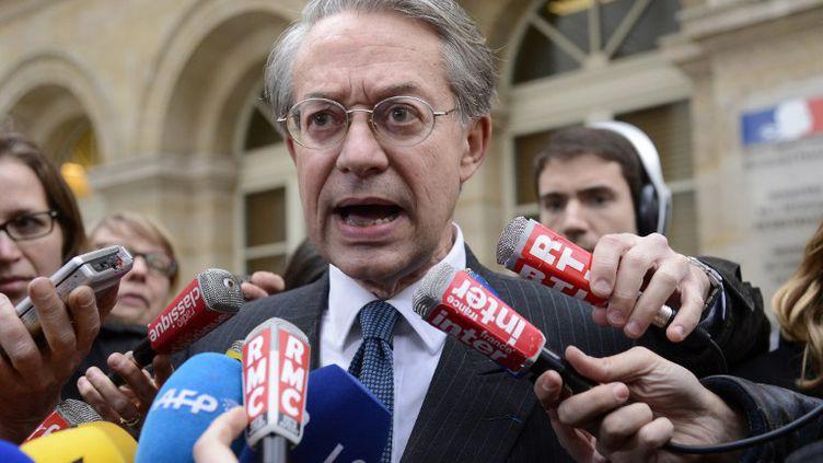 Le sénateur UMP Philippe Marini devant le ministère de l'Economie, à Paris, le 11 avril 2013. (BERTRAND GUAY / AFP)