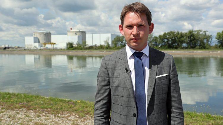 Raphaël Schellenberger,député LR du Haut-Rhin et président de la mission d'information relative au suivi de la fermeture de la centrale nucléaire de Fessenheim, le 22 juin 2020. (THIERRY GACHON / MAXPPP)