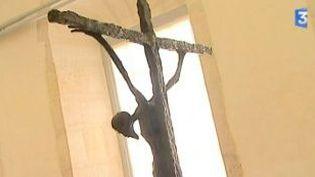 Les bronzes de Marc Petit s'installent à l'Abbaye d'Auberive  (Culturebox)