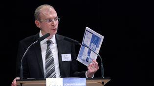 Le président de l'Union syndicale de la magistrature (USM),Christophe Régnard,à Rennes, le 19 novembre 2010. (CYRIL FOLLIOT / AFP)