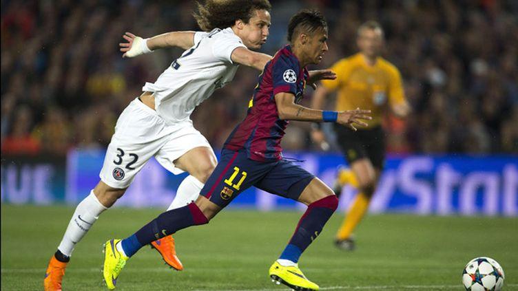 (Neymar pour Barcelone et Luiz pour le PSG © Maxppp)