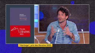 """Miguel Bonnefoy et son ouvrage """"Héritage"""" (FRANCEINFO)"""