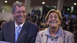 Le maire de Levallois-Perret (Hauts-de-Seine), Patrick Balkany et sa femme Isabelle, le 3 décembre 2015. (LIONEL BONAVENTURE / AFP)