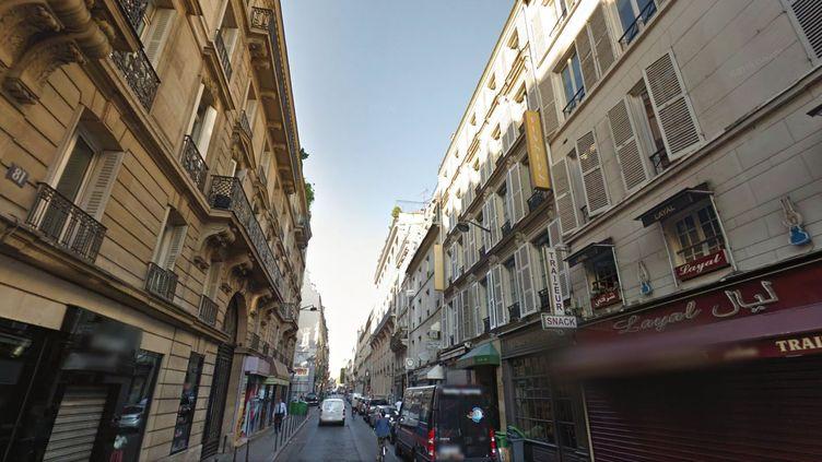 La tentative de braquage a eu lieu mardi 9 février 2016, en début d'après-midi, rue de la Boétie, à Paris. (GOOGLE MAPS)