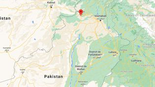 Une capture d'écran de la ville de Peshawar, où l'attentat a eu lieu mardi 27 octobre 2020. (CAPTURE ECRAN GOOGLE MAPS)