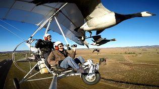 """Nicolas Vanier sur le tournage de son nouveau film """"Donne-moi des ailes""""  (PHOTOPQR/LA MONTAGNE/MAXPPP)"""