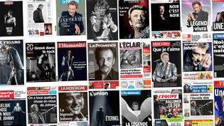 Les unes de la presse française au lendemain de la mort de Johnny Hallyday, le 7 décembre 2017. (FRANCEINFO)